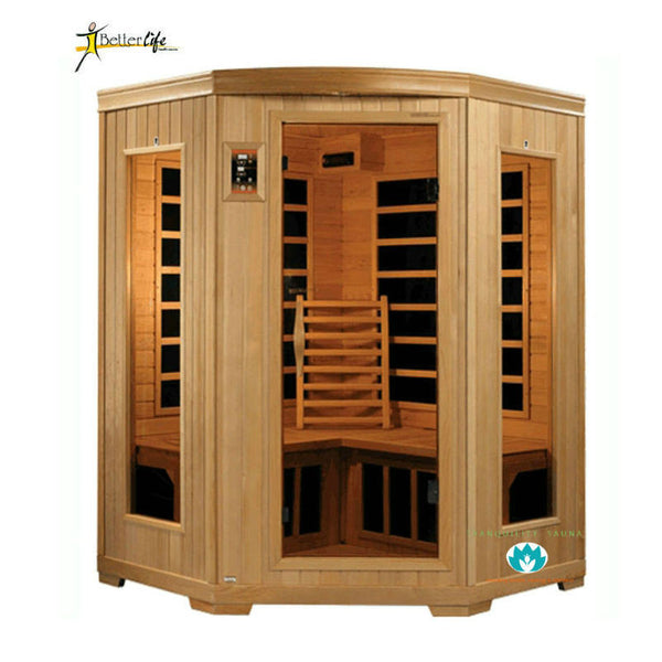 Buy Better Life Premium BL6235 3 Person Corner Carbon Infrared Sauna Online