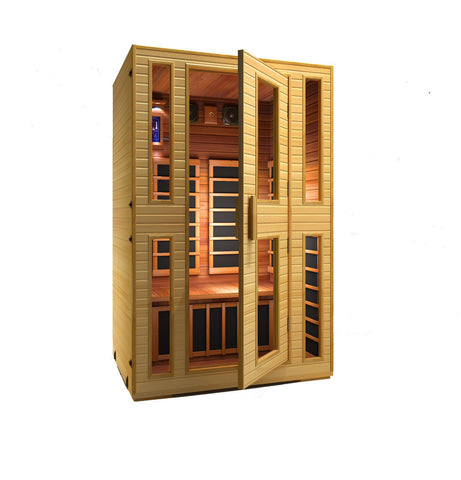 Buy JNH Heritage 2 Person Carbon Infrared Sauna Online