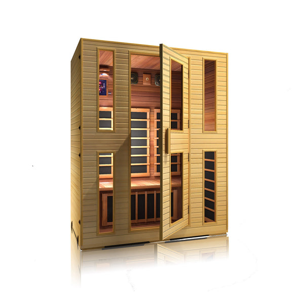 Buy JNH Heritage 3 Person Carbon Infrared Sauna Online