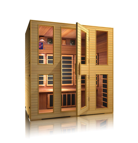 Buy JNH Heritage 4 Person Carbon Infrared Sauna Online