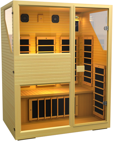 Buy JNH Commercial 3 Person Carbon Far Infrared Sauna Online