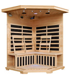 HeatWave Sante Fe (SA2412DX) 3 Person Corner Carbon Infrared Sauna