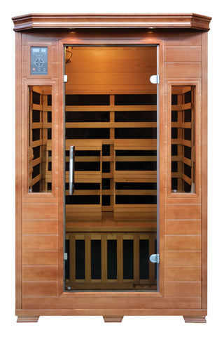 Buy Luxe Saunas SA3209 2-Person Carbon Infrared Sauna Online - Fast free shipping plus $35 discount code for limited time. In-stock, order today