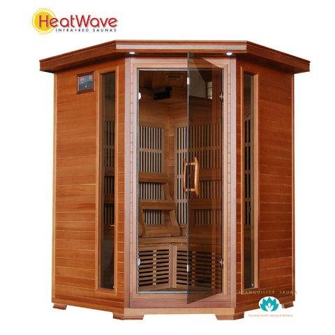 Buy HeatWave Hudson Bay (SA1312) 3 Person Corner Carbon Infrared Sauna Online
