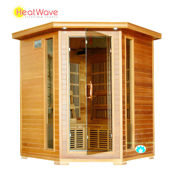Buy HeatWave Whistler (SA1320) 4 Person Corner Carbon Infrared Sauna Online
