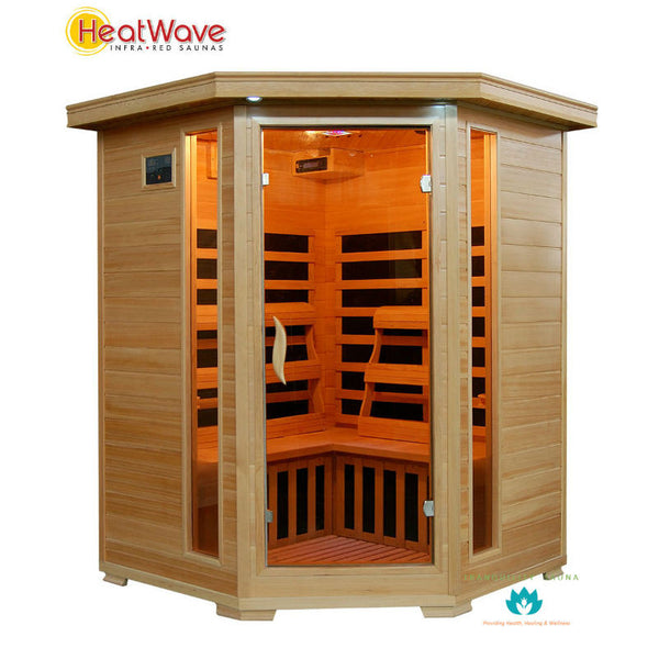 Buy HeatWave Sante Fe (SA2412DX) 3 Person Corner Carbon Infrared Sauna Online