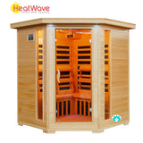 Buy HeatWave Tucson (SA2420DX) 4 Person Corner Carbon Infrared Sauna Online