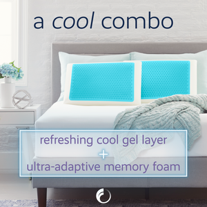 Comfort Revolution Queen Blue Bubble Gel Memory Foam Pillow