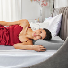 Goodnight + Glow Luxe Silk Memory Foam Contour Pillow