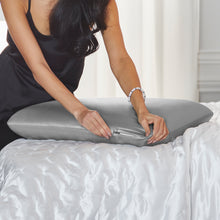 Goodnight + Glow Luxe Silk Memory Foam Pillow