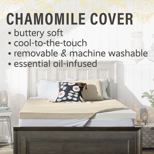 "Aromatherapy 3"" Chamomile Essential Oil-Infused Memory Foam Mattress Topper"