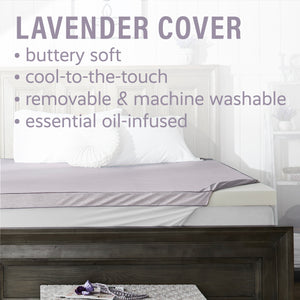 "Aromatherapy 3"" Lavender Essential Oil-Infused Memory Foam Mattress Topper"