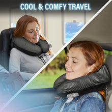 Hydraluxe+™ React Cooling Memory Foam Travel Pillow