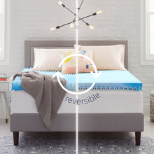 "4"" Reversible ""Egg Crate"" Memory Foam Mattress Topper"