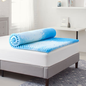 "2"" Reversible ""Egg Crate"" Memory Foam Mattress Topper"