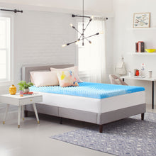 "3"" Reversible ""Egg Crate"" Memory Foam Mattress Topper"