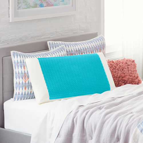 King Blue Bubble Gel Memory Foam Pillow