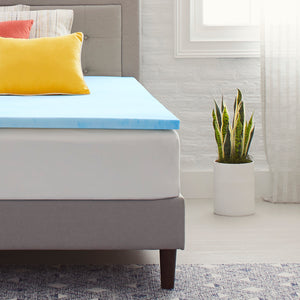 "1.5"" Gel-Infused Memory Foam Mattress Topper"