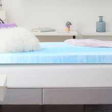 "4"" Gel-Infused Memory Foam Mattress Topper"