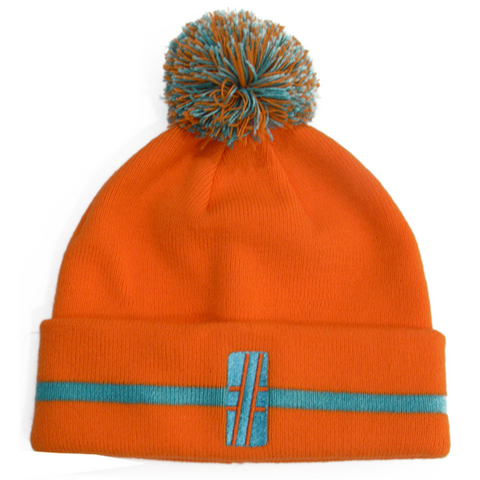 Orange Bobble Beanie - Hashtag Board Co.