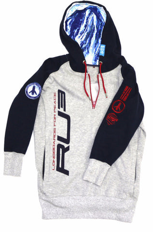 Longboarding for Peace Quarter Zip Hoodie - Hashtag Board Co.  - 1