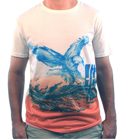 Ombre Eagle Performance Tee - Hashtag Board Co.