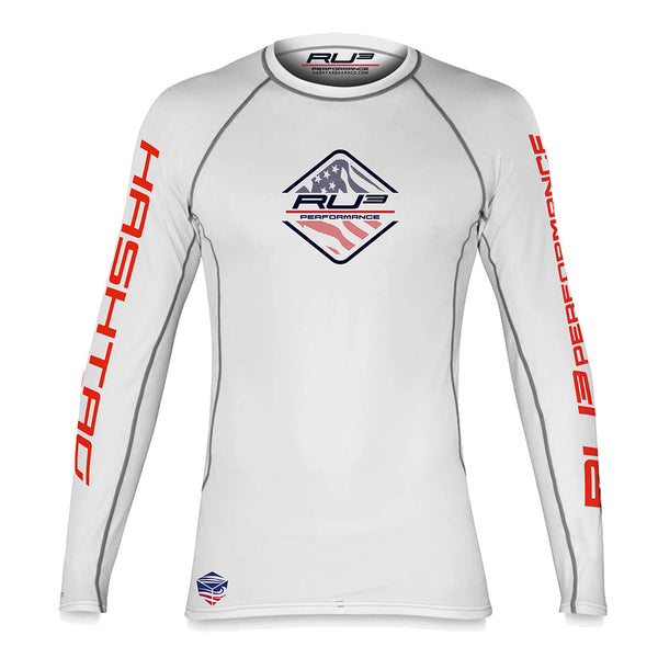RU3 America Offshore Peformance RASH GUARD - Hashtag Board Co.