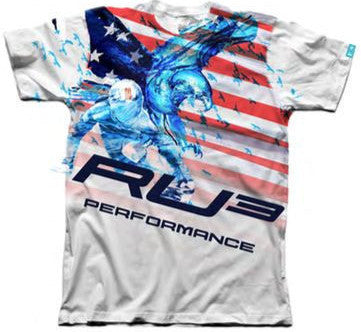 RU3 Flag Eagle Tee - Hashtag Board Co.