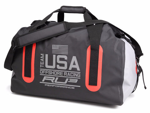 RU3 Racing Dry Bag Black and Reflective Yachtsman Duffle - Hashtag Board Co.