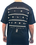 Ride, Relax, Repeat Tee - Hashtag Board Co.  - 1