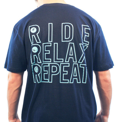 Ride, Relax, Repeat Tee - Hashtag Board Co.