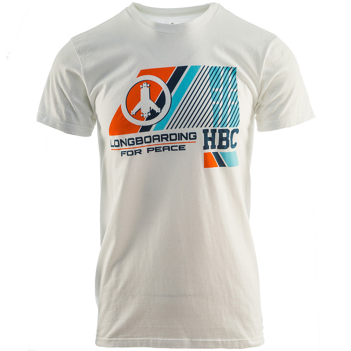 cd04ee7d0 HBC Longboarding For Peace Modern White T-Shirt – Hashtag Board Co.