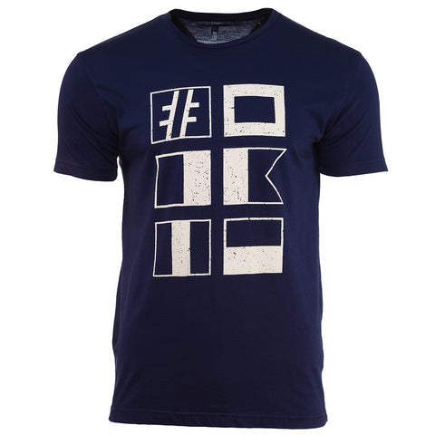 Navy Nautical Flag Tee - Hashtag Board Co.  - 1