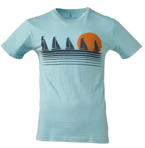 Sunrise Sailboats Tee - Hashtag Board Co.  - 1