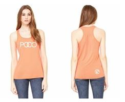 2018 Ladies Racer Back Tank - Coral