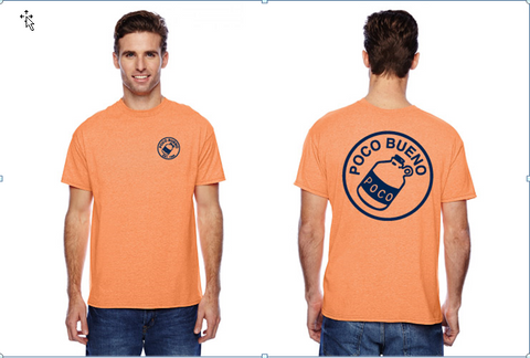 Classic T-Shirt - Orange w/ navy imprint