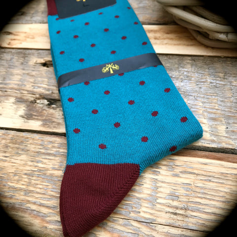 Luxury Men's Socks - Spotted Tom