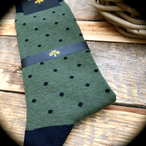 Luxury Men's Socks - Spotted Harry