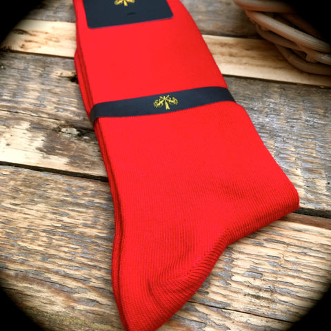 Luxury Men's Socks - Rosso Corsa