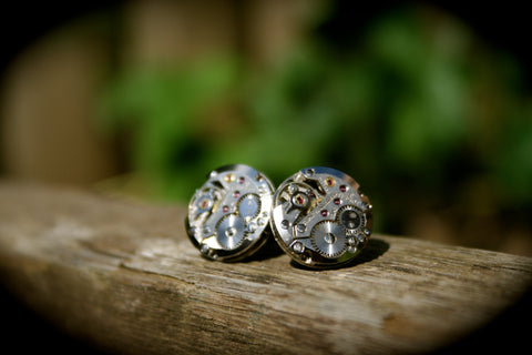 Vintage Tissot Watch Movement Cufflinks