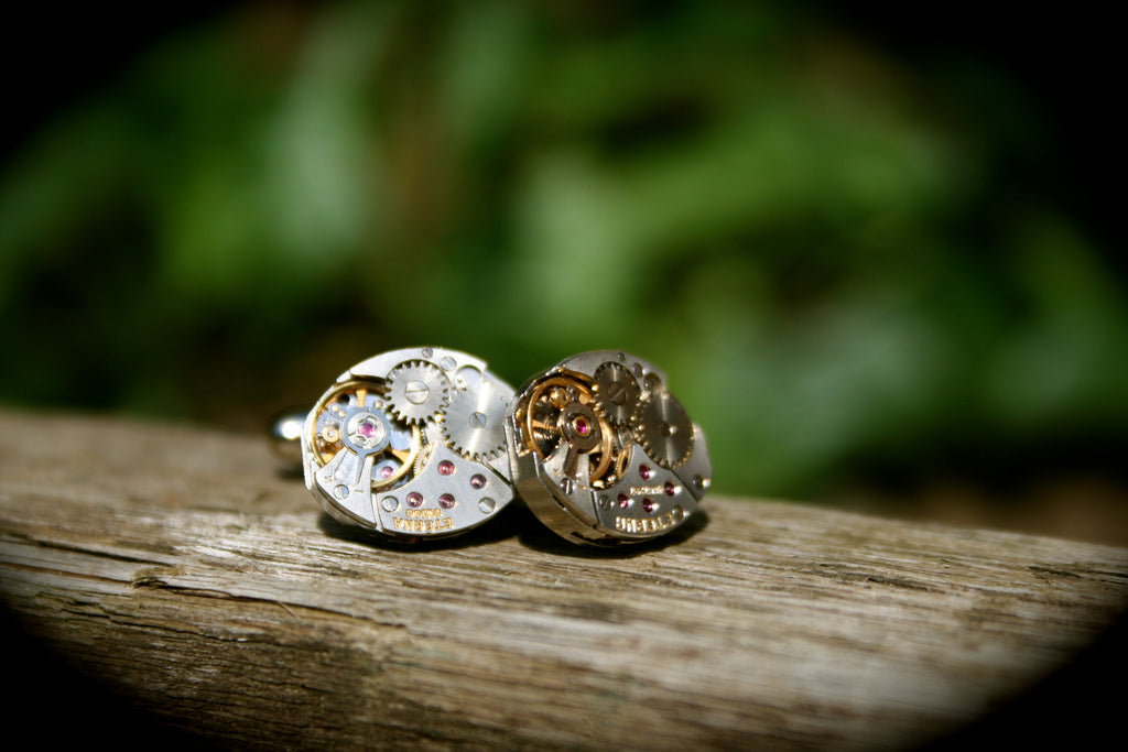 Vintage Eterna Watch Movement Cufflinks