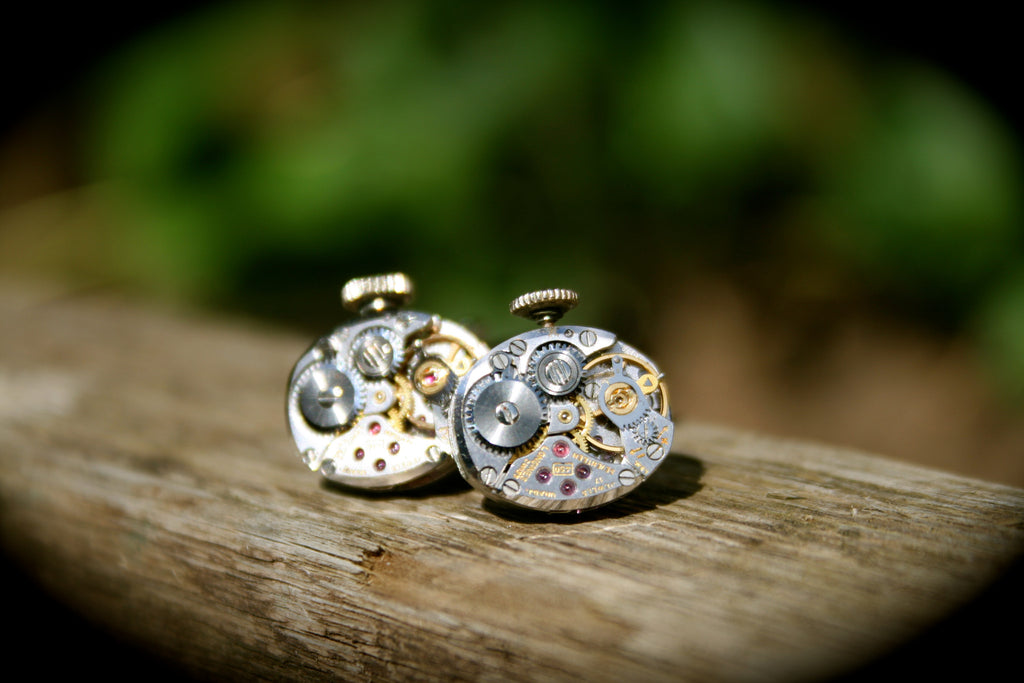 Vintage Longines Watch Movement Cufflinks