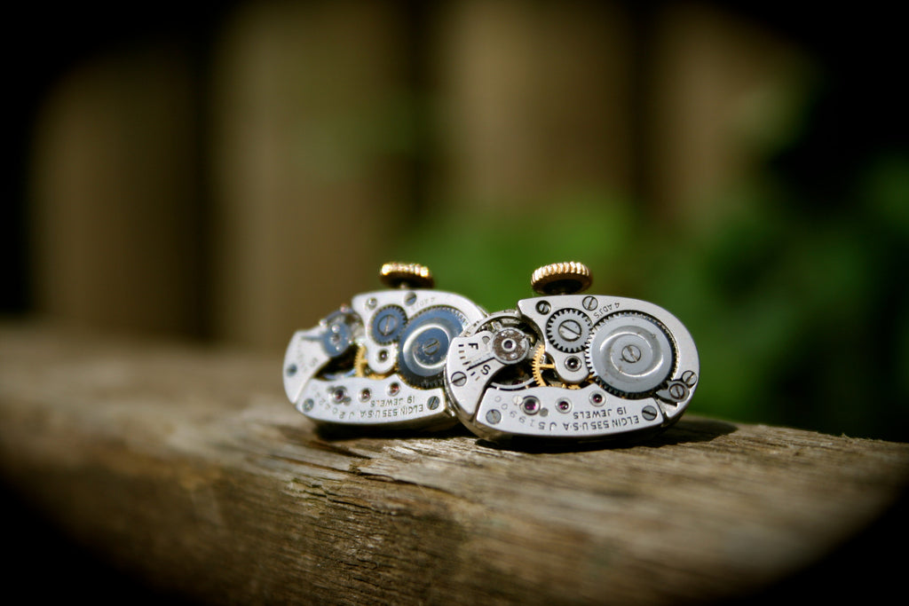 Vintage Elgin Watch Movement Cufflinks
