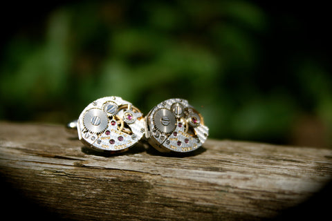 Vintage Rado Watch Movement Cufflinks