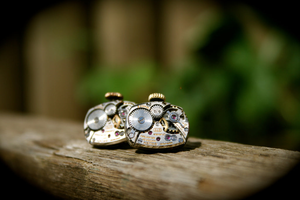 Vintage Gruen Watch Movement Cufflinks