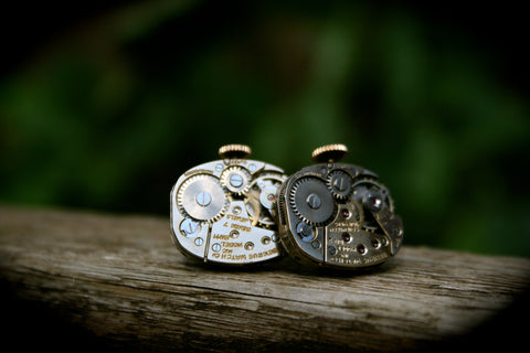 Vintage Benrus Watch Movement Cufflinks