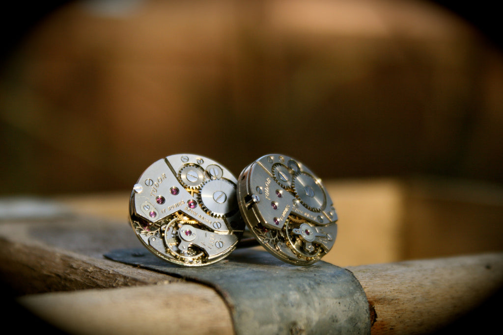 Vintage Tudor (Rolex) Watch Movement Cufflinks