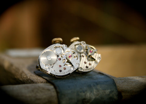 Vintage Hamilton Watch Movement Cufflinks