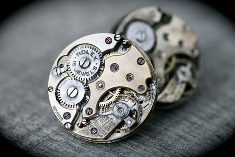 Vintage Rolex Watch Movement Cufflinks