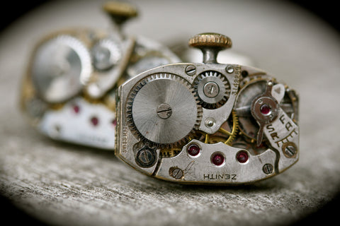 Vintage Zenith Watch Movement Cufflinks